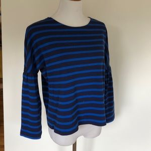 J. Crew Stripe Bell Sleeve Top